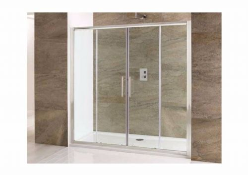 Volente Luxurious 1400mm Double Sliding Shower Door, With Optional Side Panels